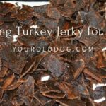 Making turkey jerky treats for dogs
