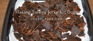 Making turkey jerky treats for dogs