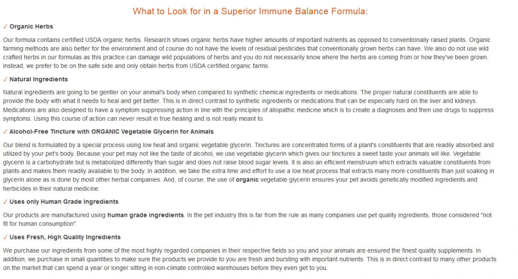 What to look for in a superior immune balance formula