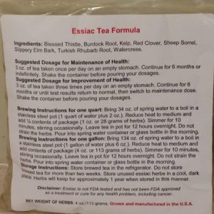 Essiac Tea for Immune Health & Tumor Support