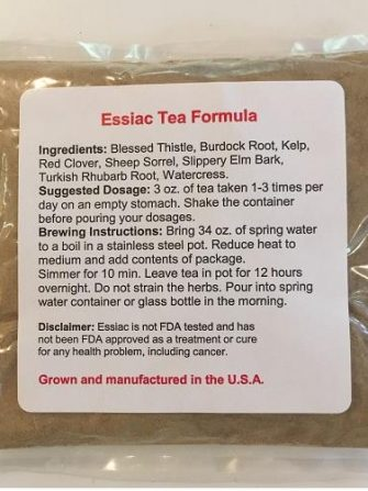 Essiac Tea for Immune Health & Tumor Support Cancer, Essiac tea