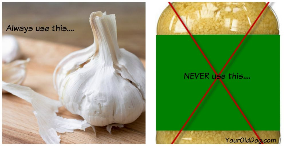 what type of garlic is safe for dogs